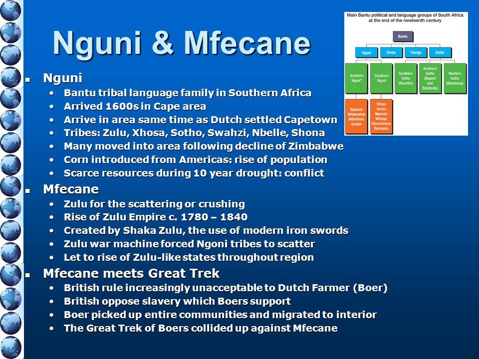 Nguni & Mfecane Nguni Mfecane Mfecane meets Great Trek