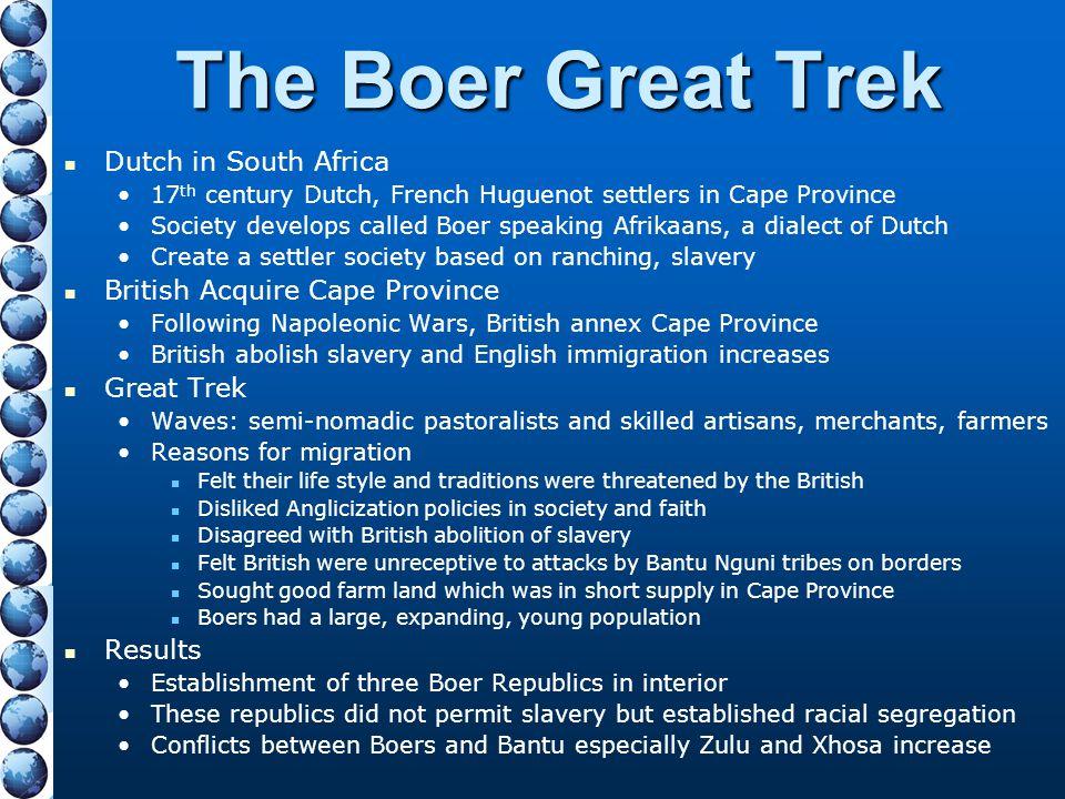 The Boer Great Trek Dutch in South Africa