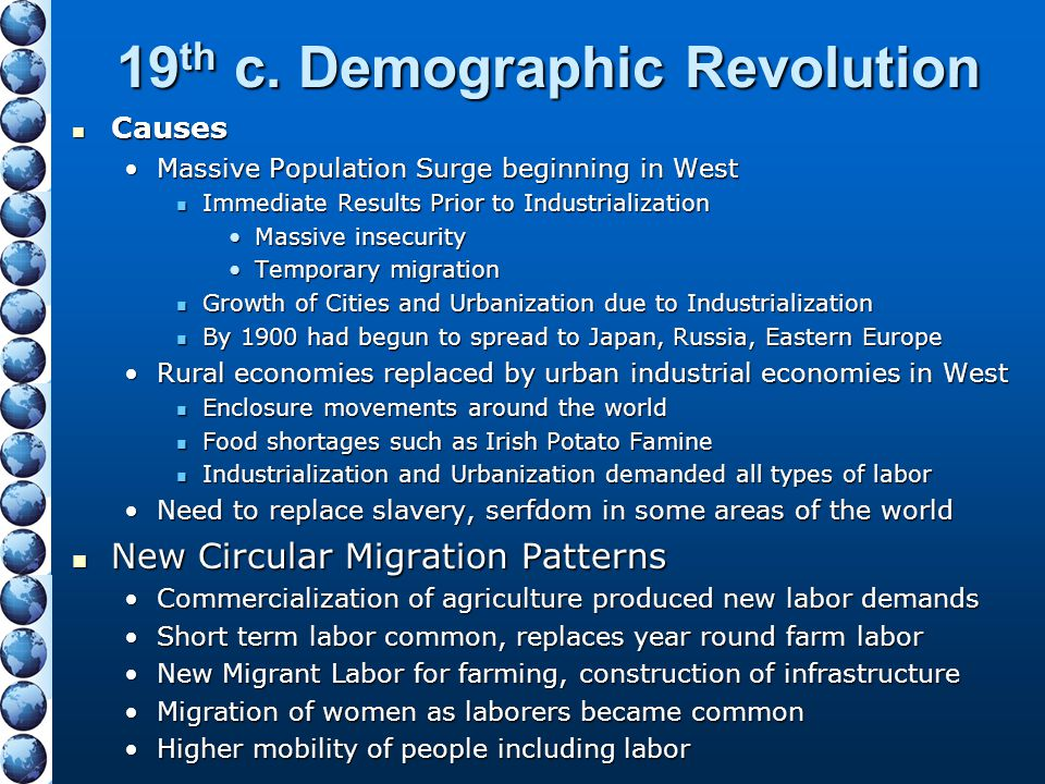 19th c. Demographic Revolution