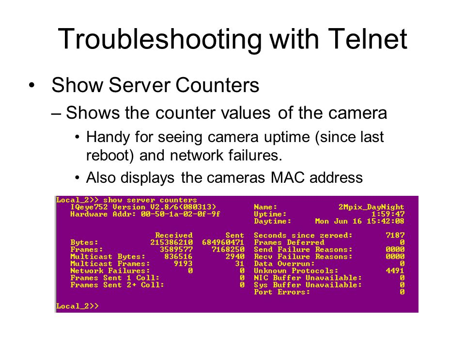 Troubleshooting with Telnet