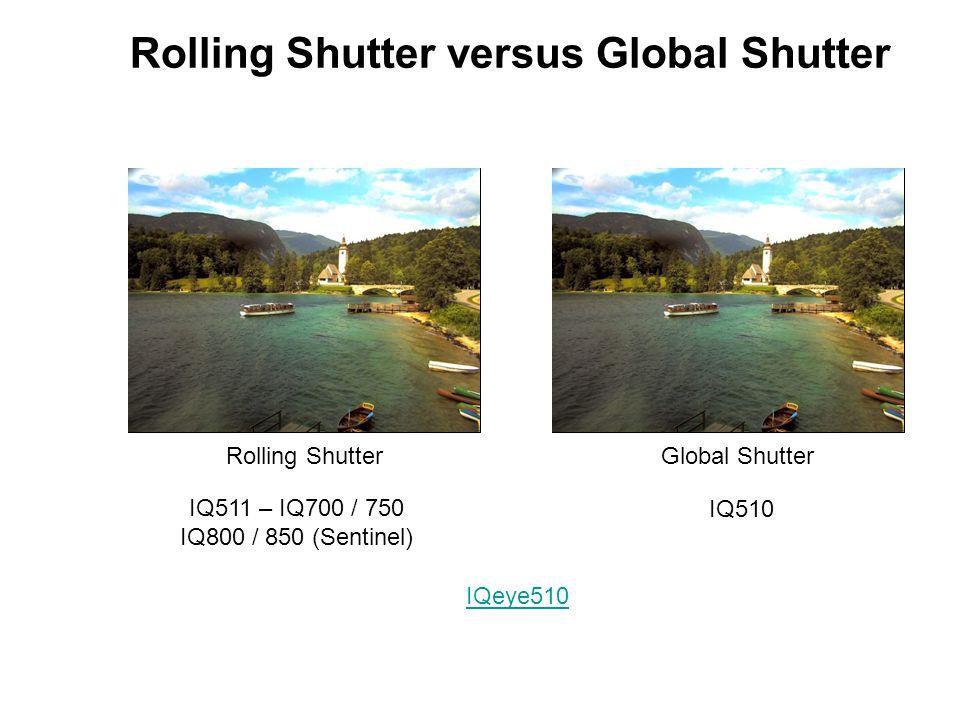 Rolling Shutter versus Global Shutter