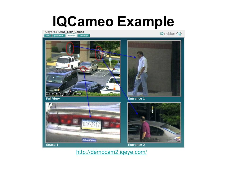IQCameo Example http://democam2.iqeye.com/