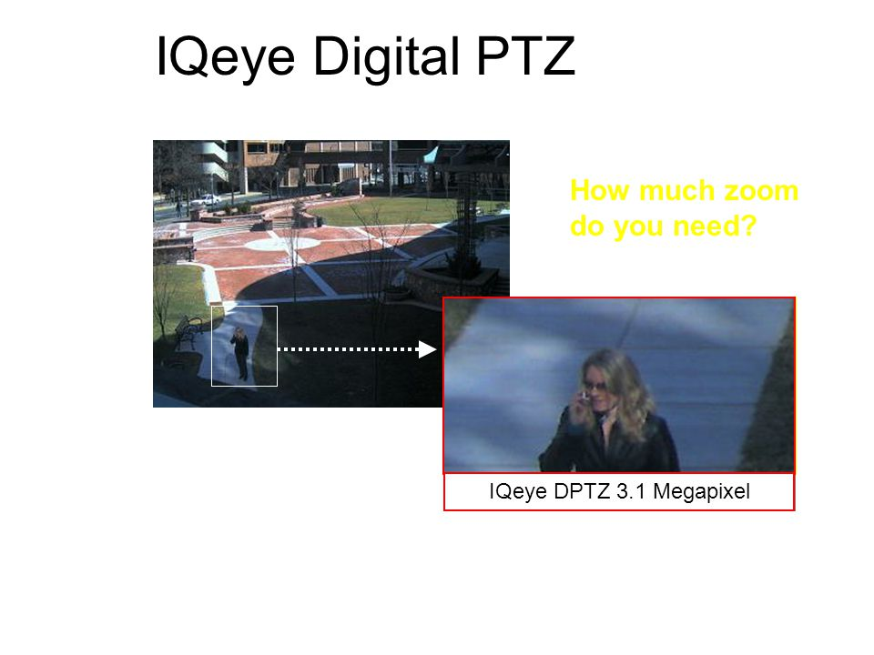 IQeye Digital PTZ How much zoom do you need IQeye DPTZ 3.1 Megapixel