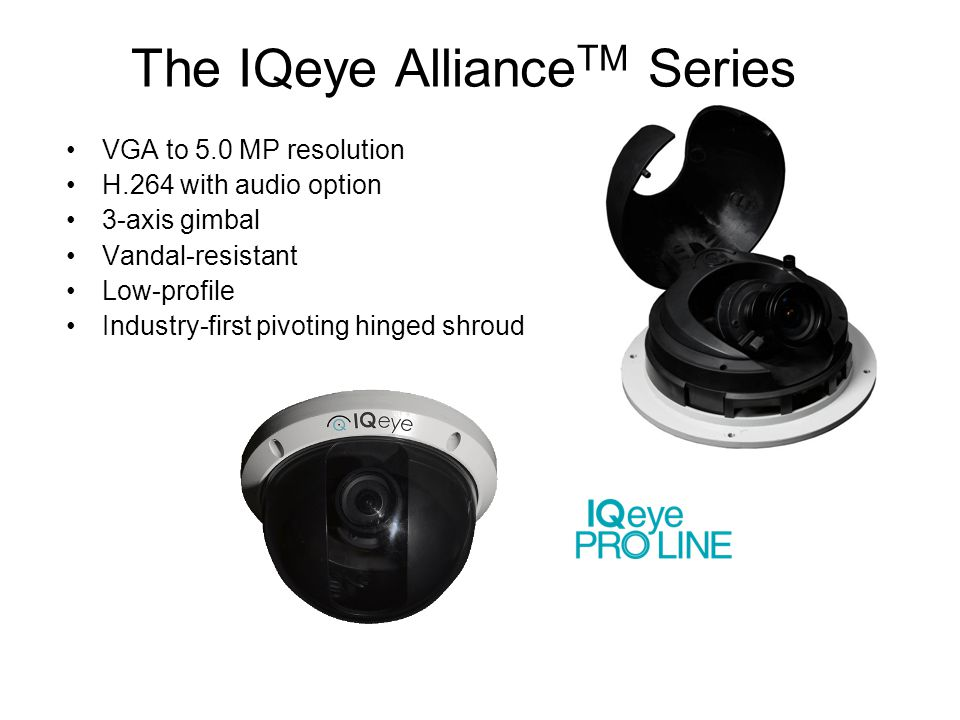 The IQeye AllianceTM Series