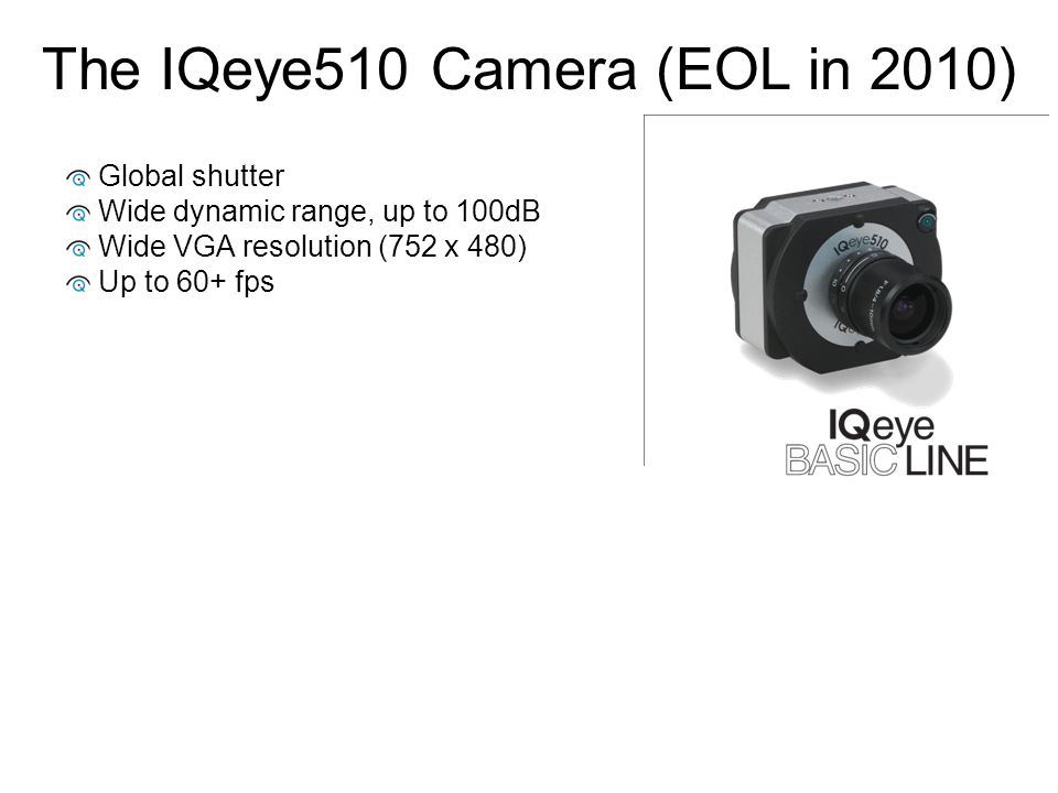 The IQeye510 Camera (EOL in 2010)