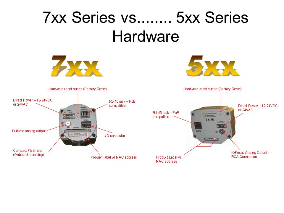 7xx Series vs........ 5xx Series Hardware