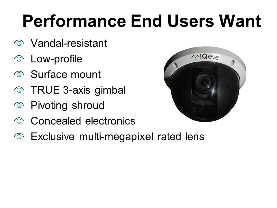 Performance End Users Want