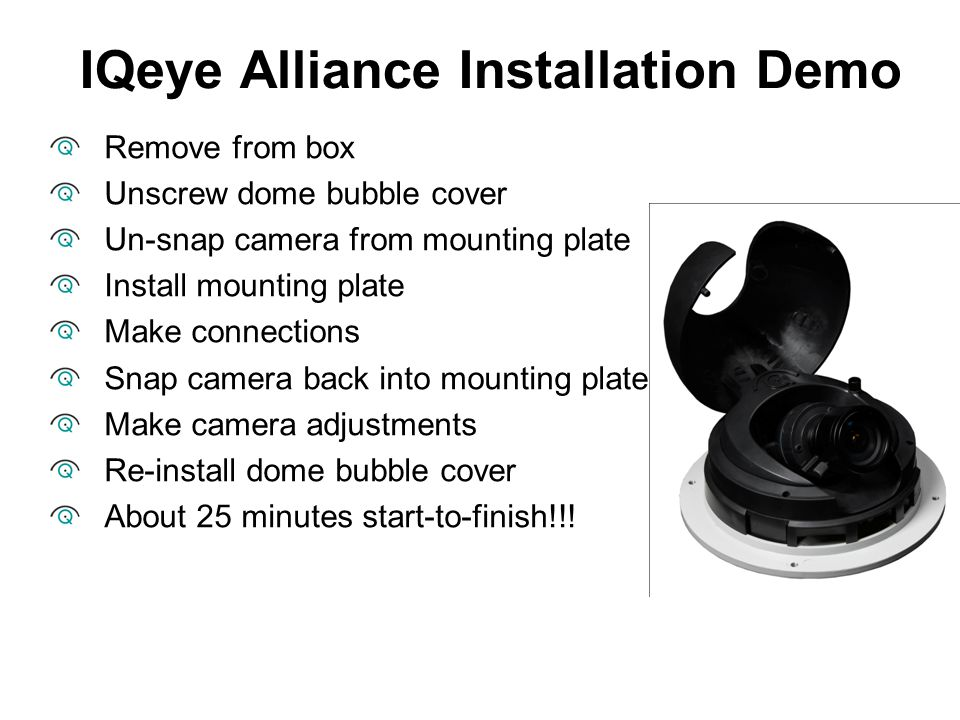 IQeye Alliance Installation Demo