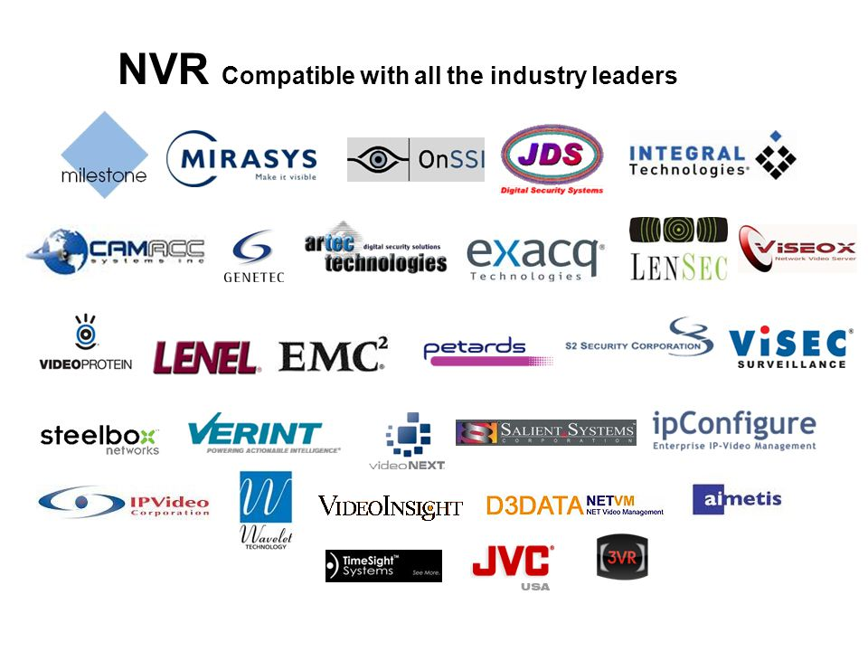 NVR Compatible with all the industry leaders