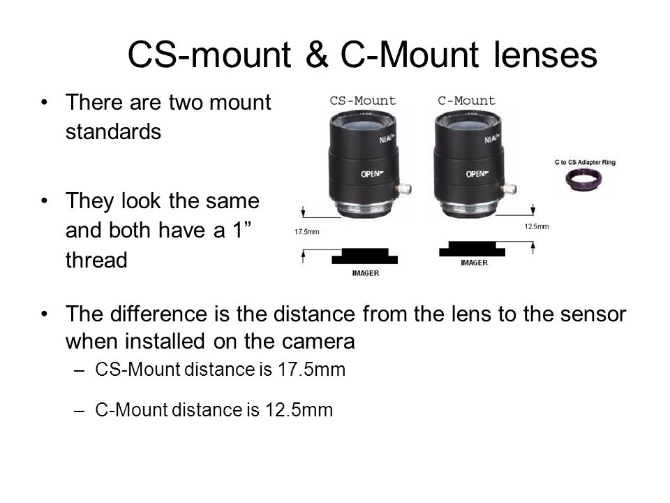 CS-mount & C-Mount lenses