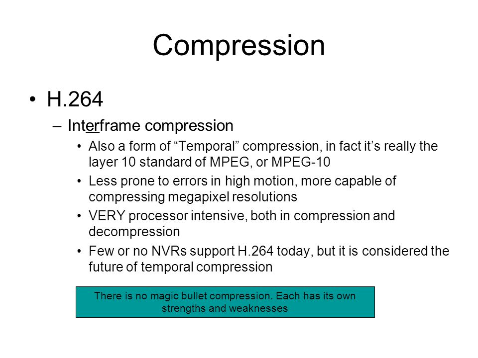 Compression H.264 Interframe compression