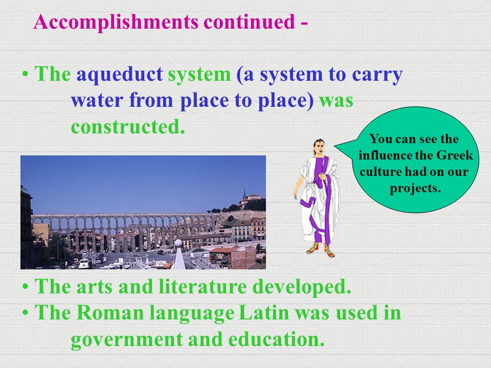 Accomplishments continued -