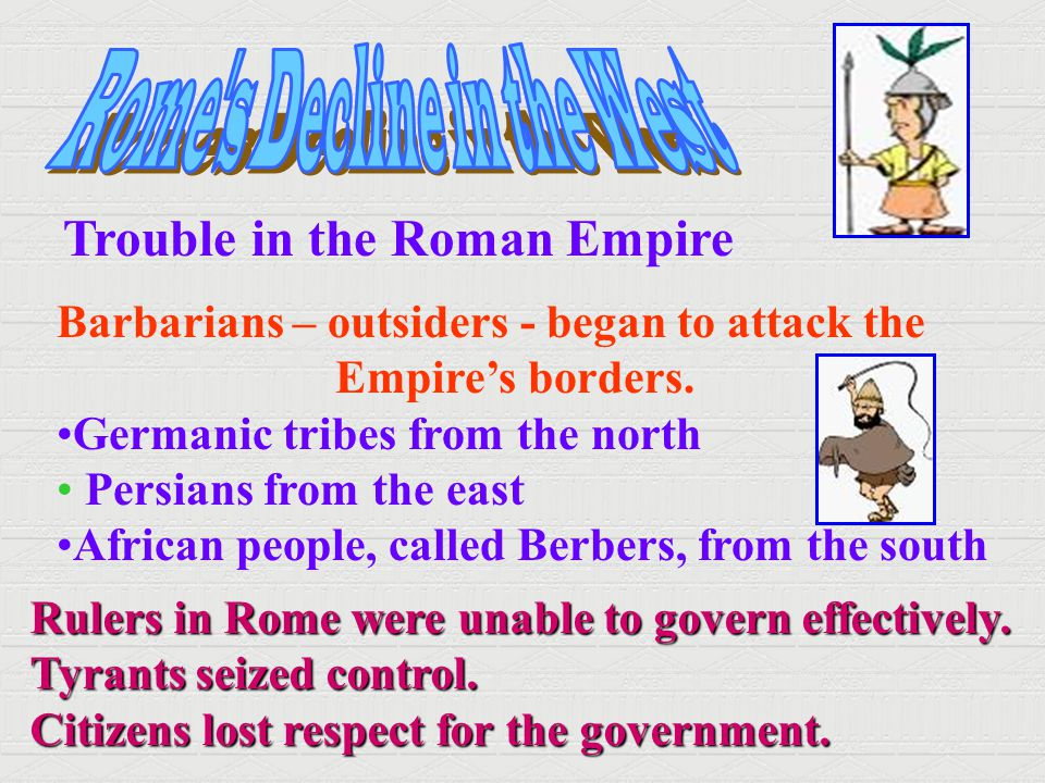 Rome s Decline in the West
