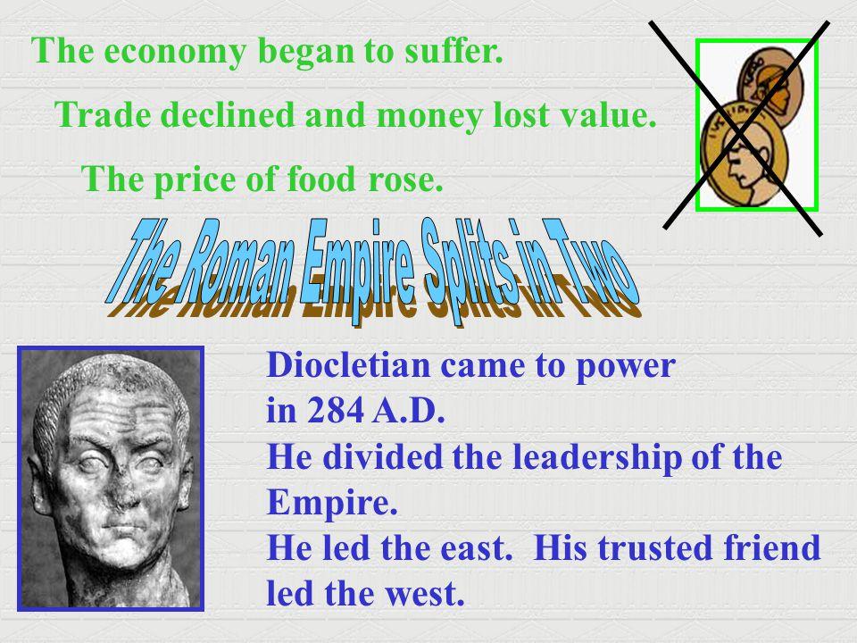The Roman Empire Splits in Two