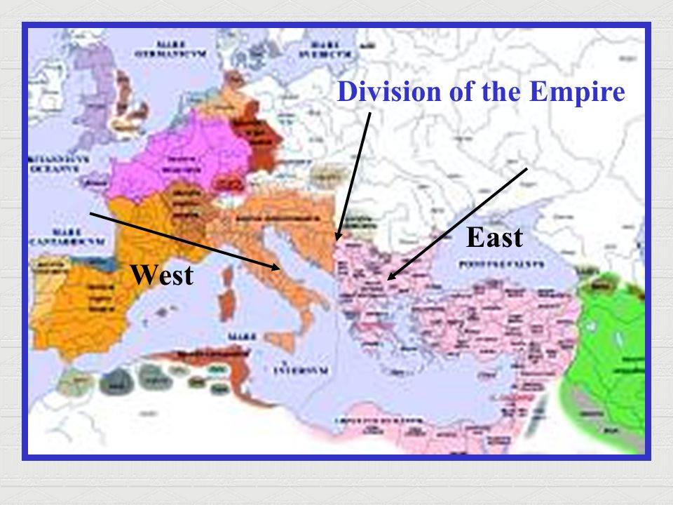Division of the Empire East West