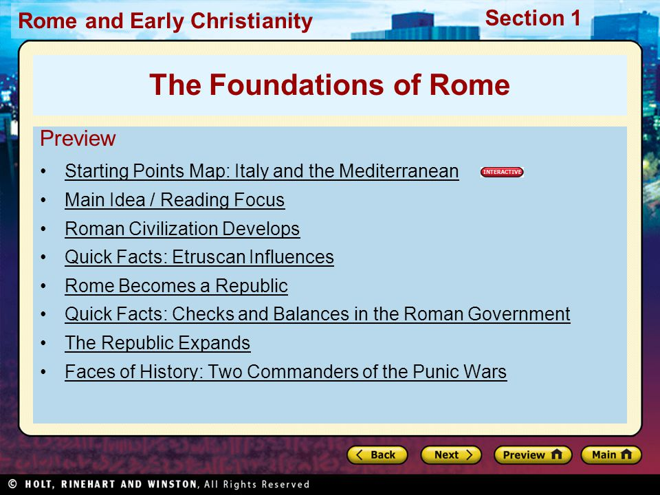 The Foundations of Rome