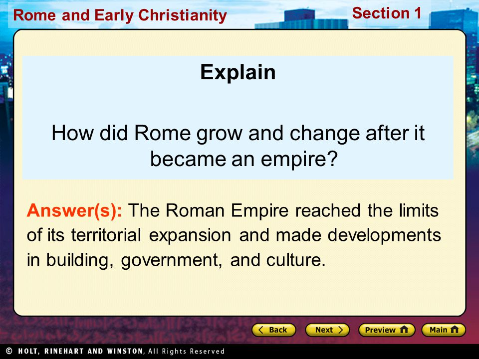 How did Rome grow and change after it became an empire