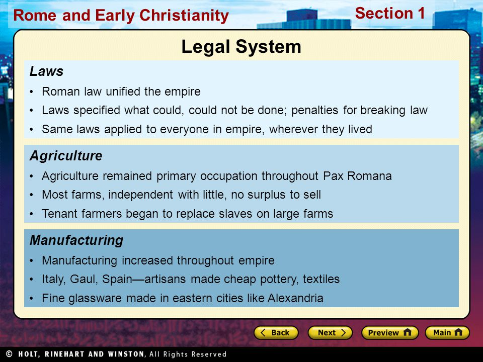 Legal System Laws Agriculture Manufacturing
