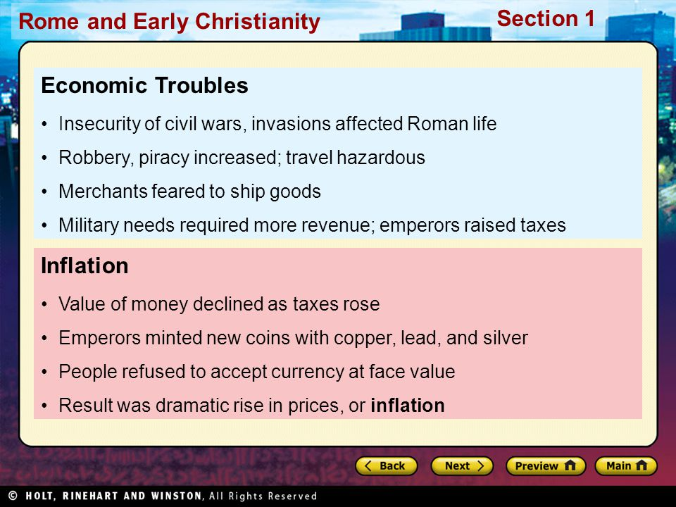Economic Troubles Inflation