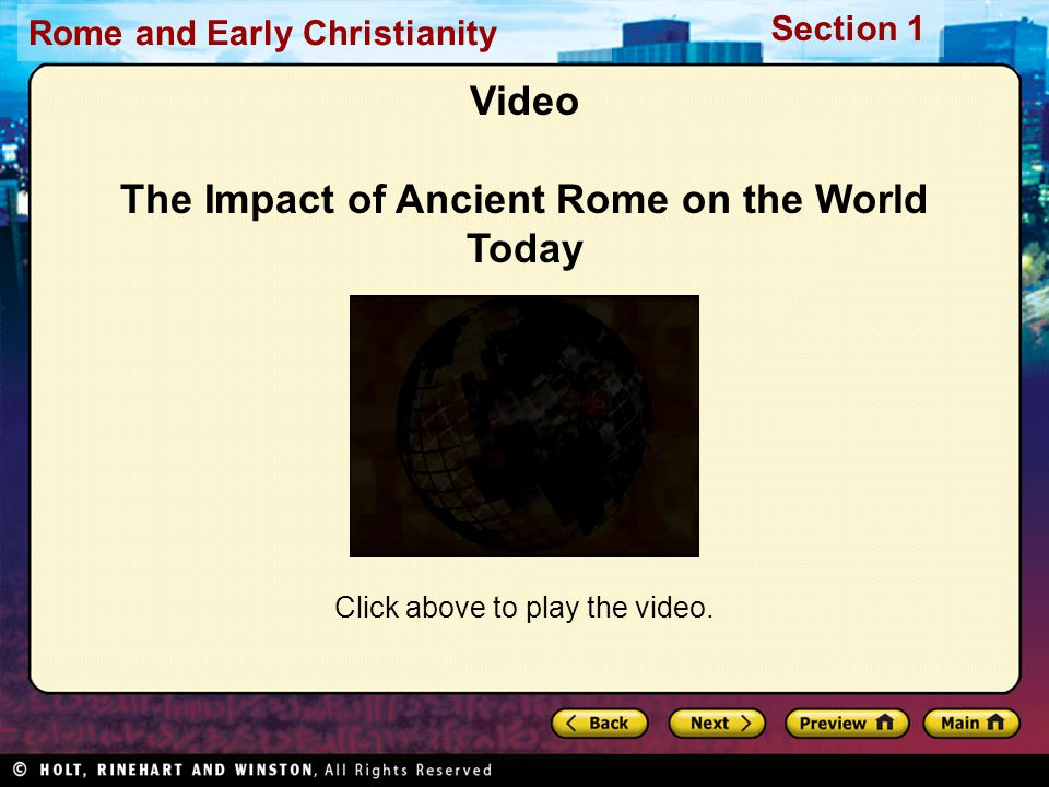 Video The Impact of Ancient Rome on the World Today