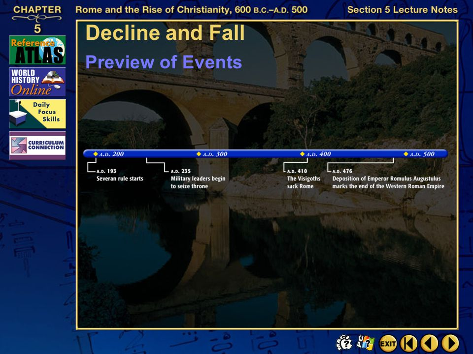 Decline and Fall Preview of Events Section 5-4