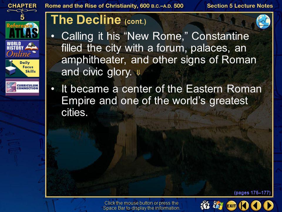 The Decline (cont.)