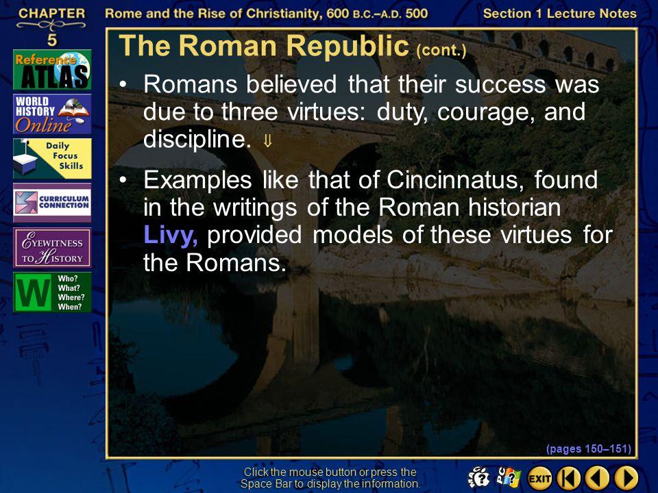 The Roman Republic (cont.)