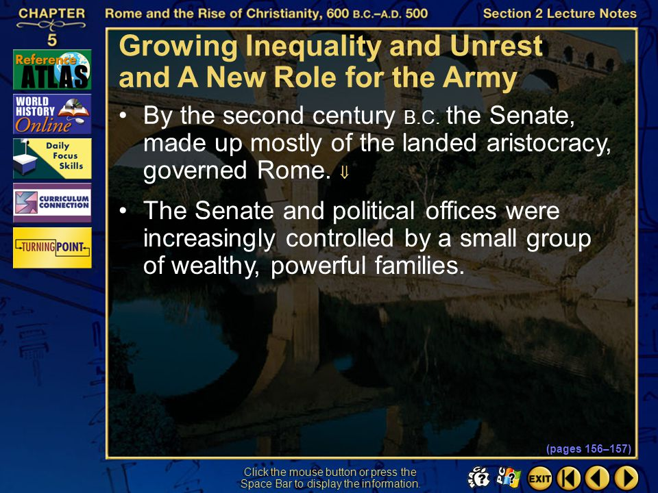 Growing Inequality and Unrest and A New Role for the Army