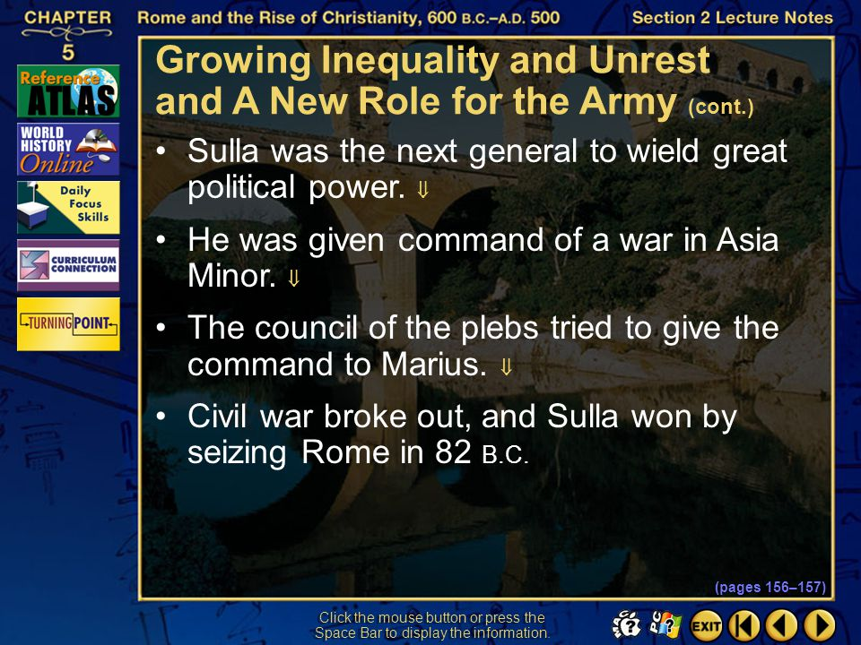 Growing Inequality and Unrest and A New Role for the Army (cont.)
