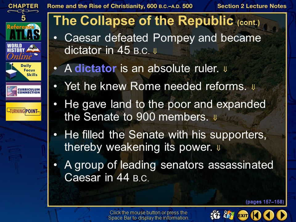 The Collapse of the Republic (cont.)