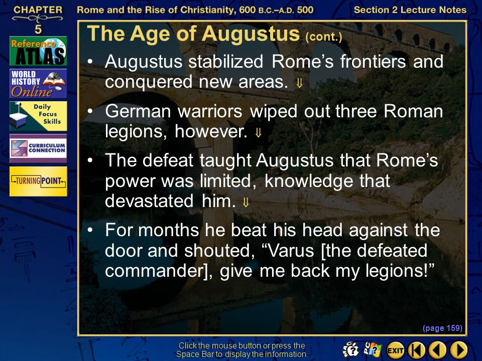 The Age of Augustus (cont.)