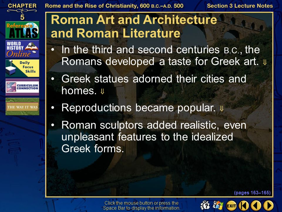 Roman Art and Architecture and Roman Literature