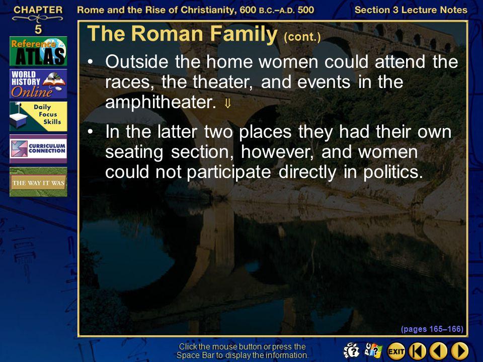 The Roman Family (cont.)