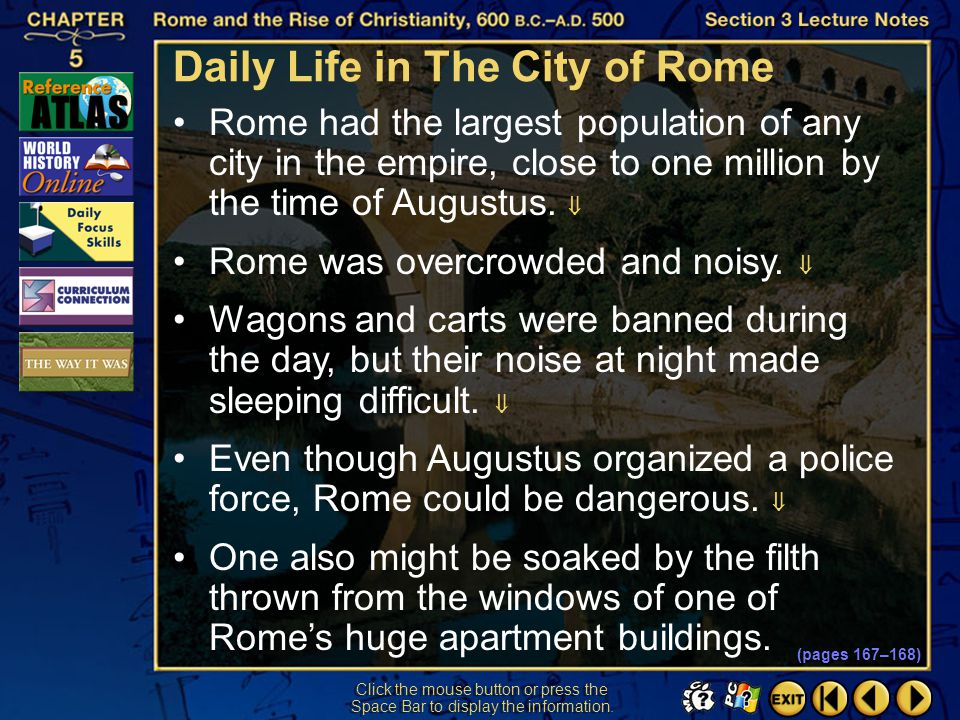 Daily Life in The City of Rome