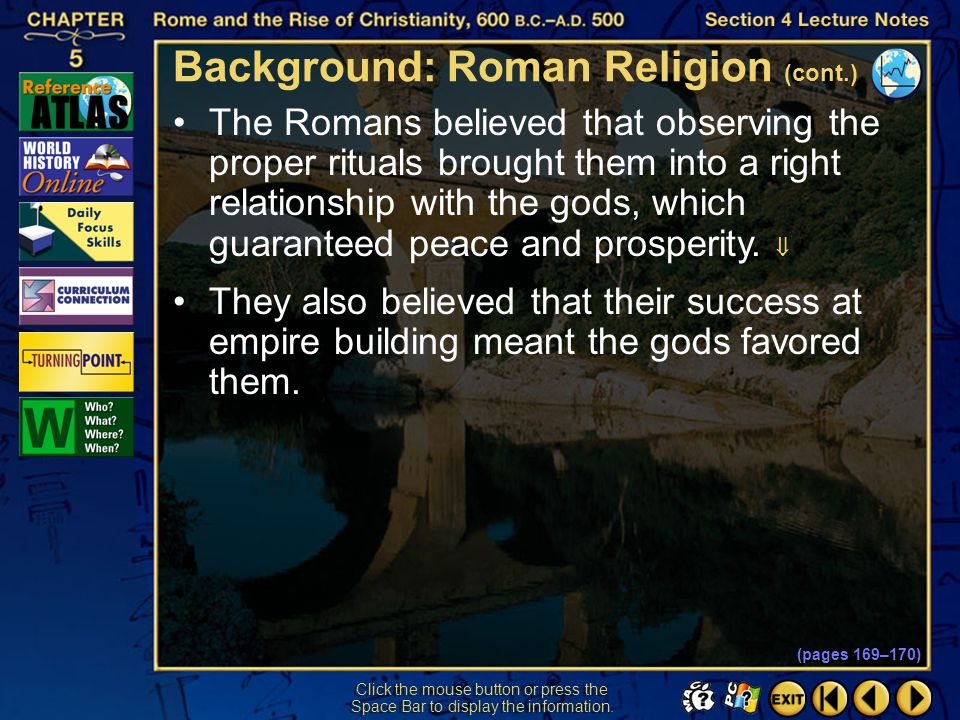 Background: Roman Religion (cont.)