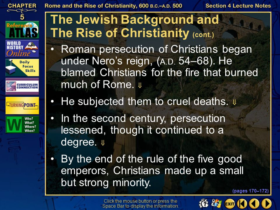 The Jewish Background and The Rise of Christianity (cont.)