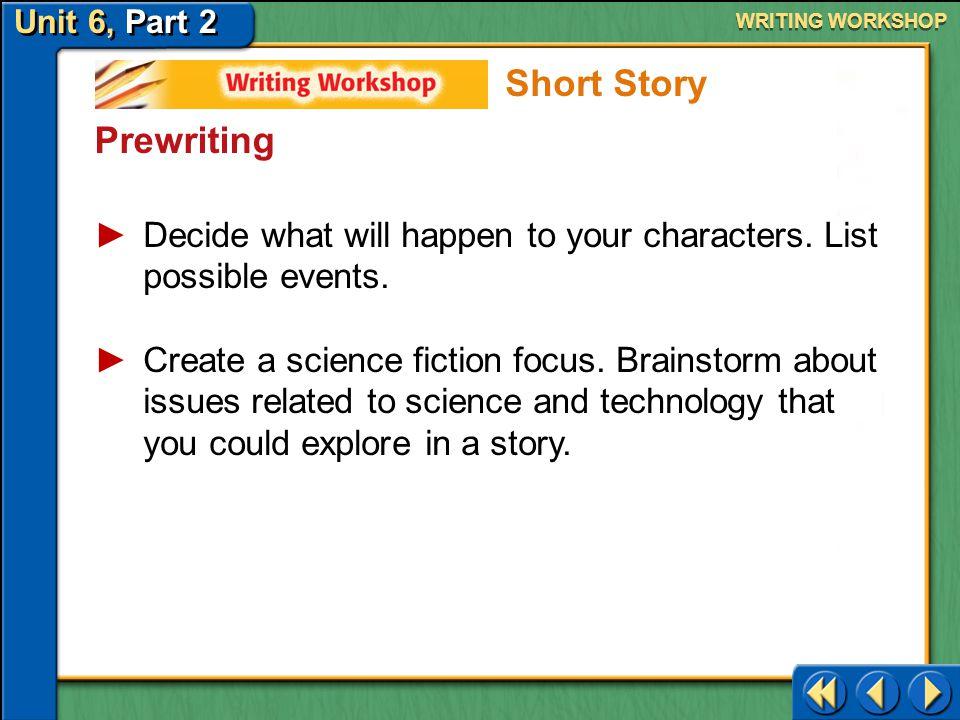 Short Story Prewriting