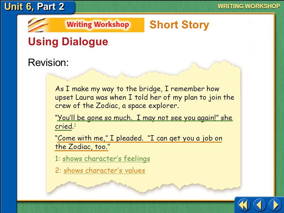 Short Story Using Dialogue Revision: