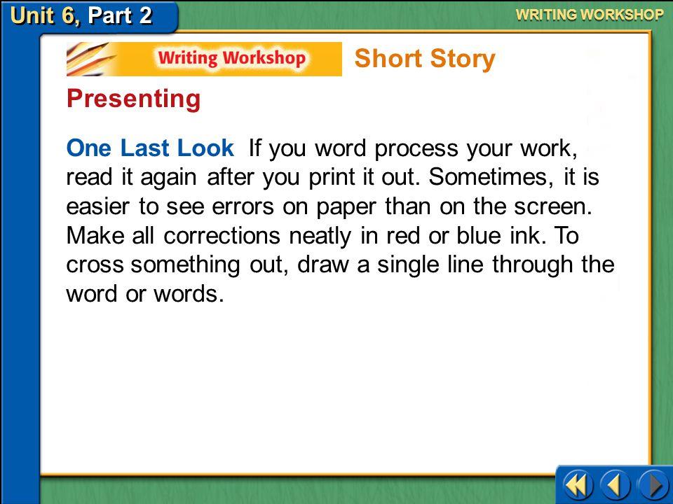Short Story Presenting