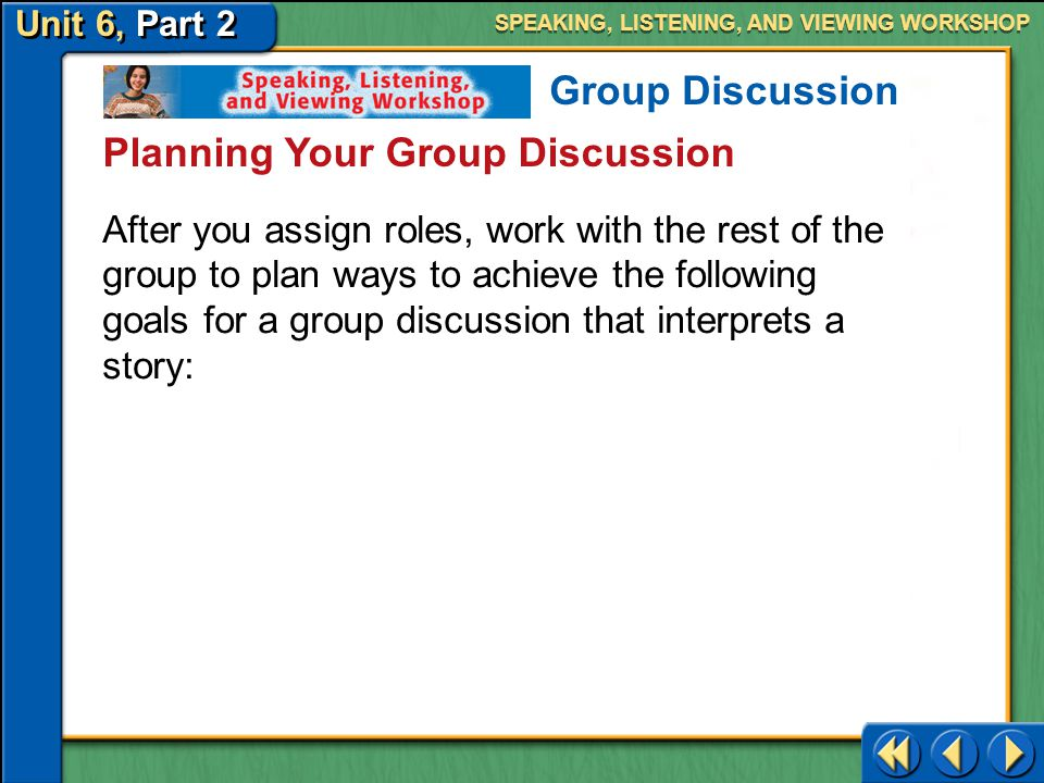 Planning Your Group Discussion