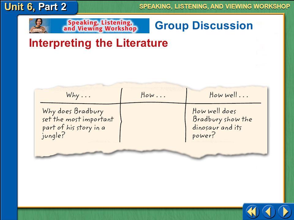 Interpreting the Literature