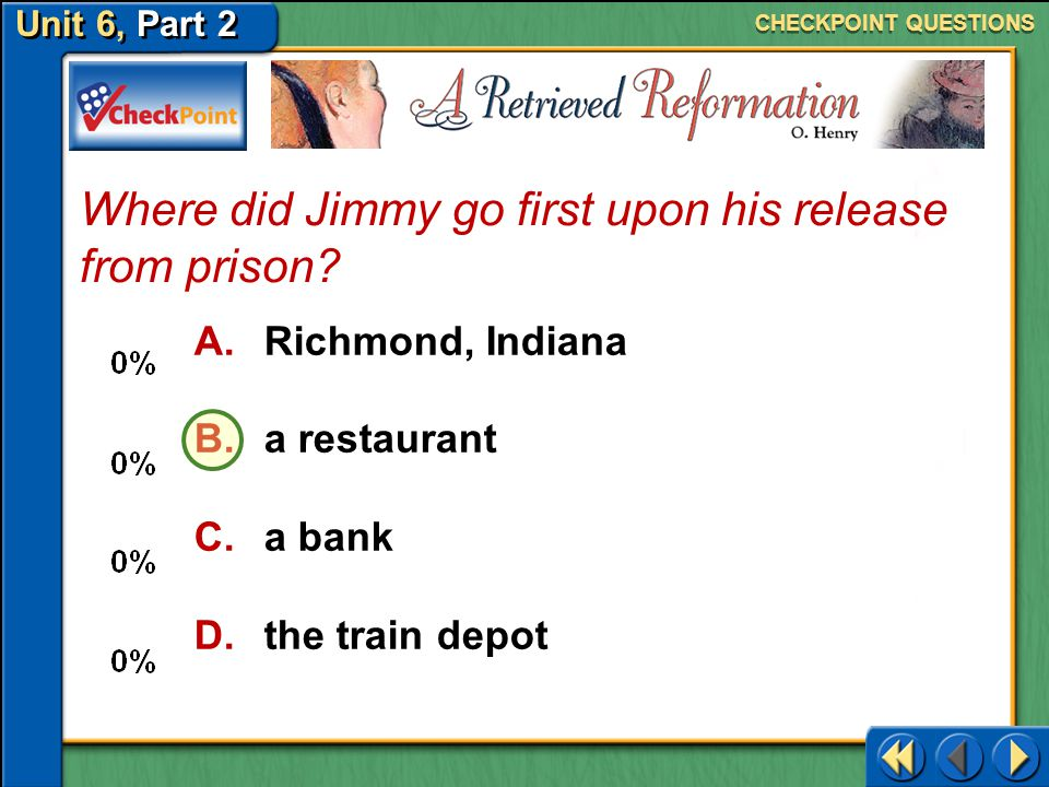Where did Jimmy go first upon his release from prison