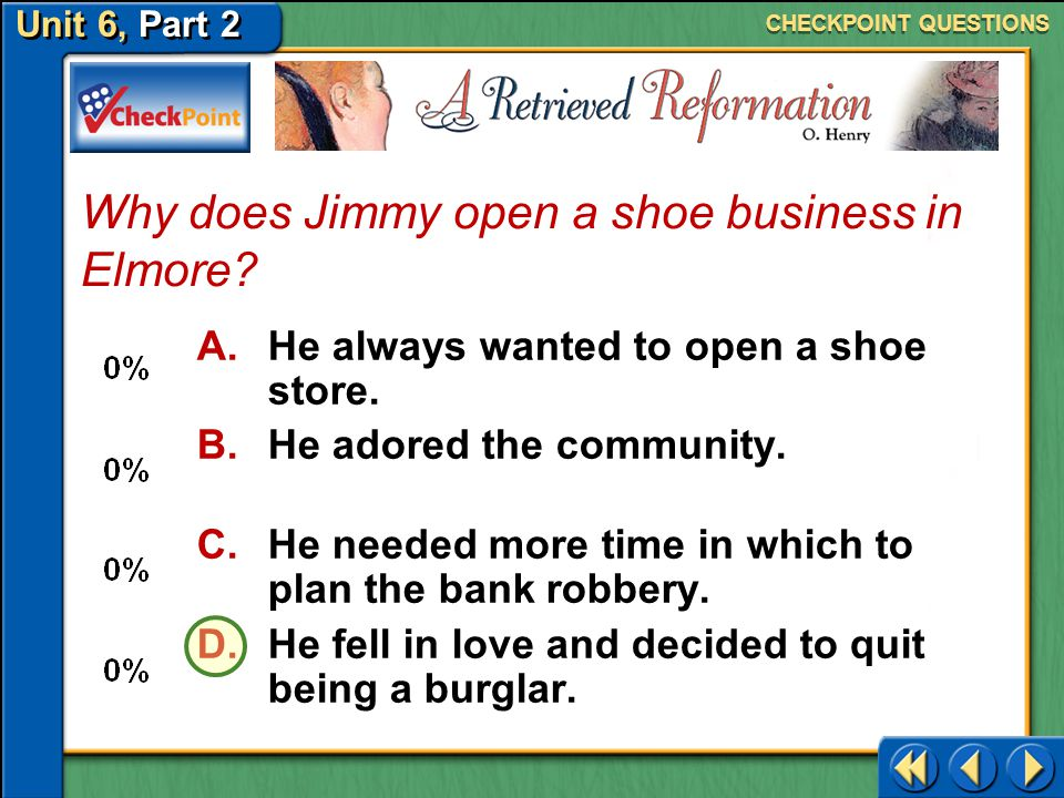 Why does Jimmy open a shoe business in Elmore