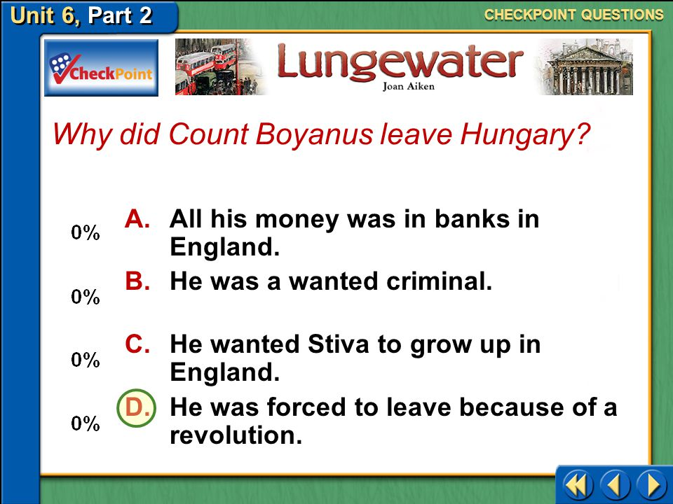 Why did Count Boyanus leave Hungary