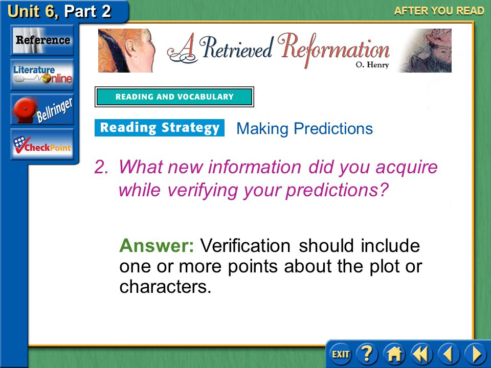 What new information did you acquire while verifying your predictions