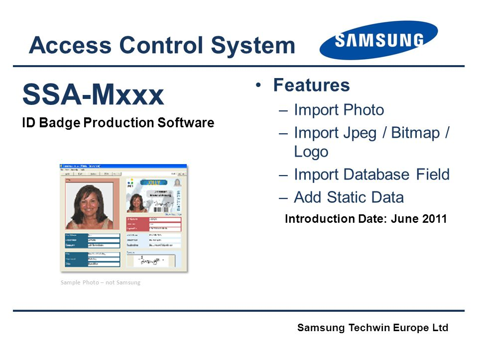SSA-Mxxx Access Control System Features Import Photo