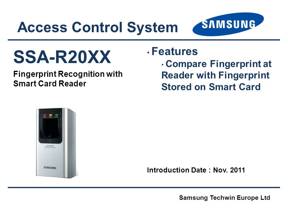 SSA-R20XX Access Control System