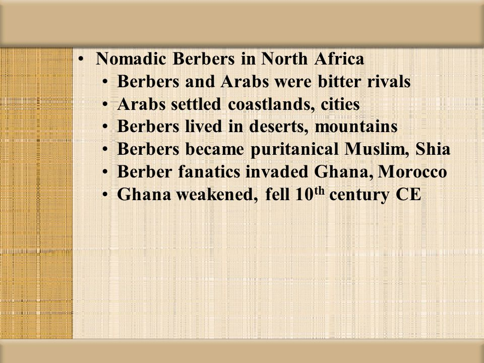 Nomadic Berbers in North Africa