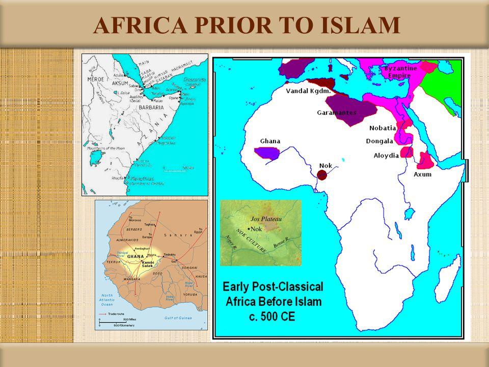 AFRICA PRIOR TO ISLAM