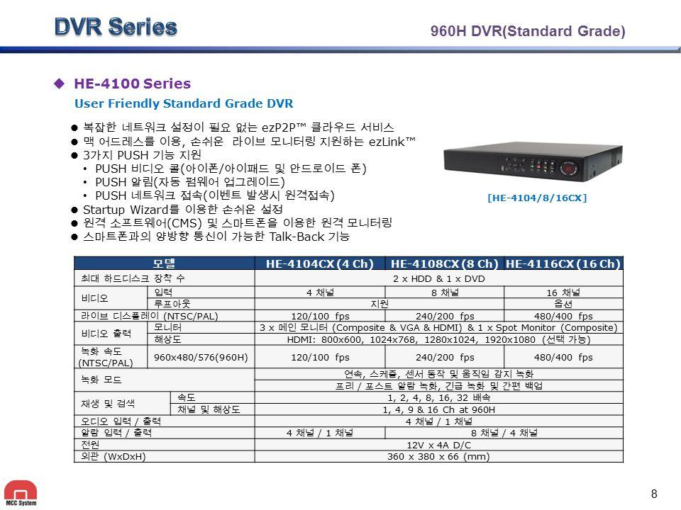 3 x 메인 모니터 (Composite & VGA & HDMI) & 1 x Spot Monitor (Composite)